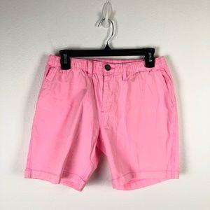 """Chubbies Originals Men's Casual Shorts Pink 7"""" S"""